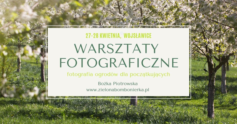 Warsztaty fotograficzne wWojsławicach 27-28 kwietnia 2019