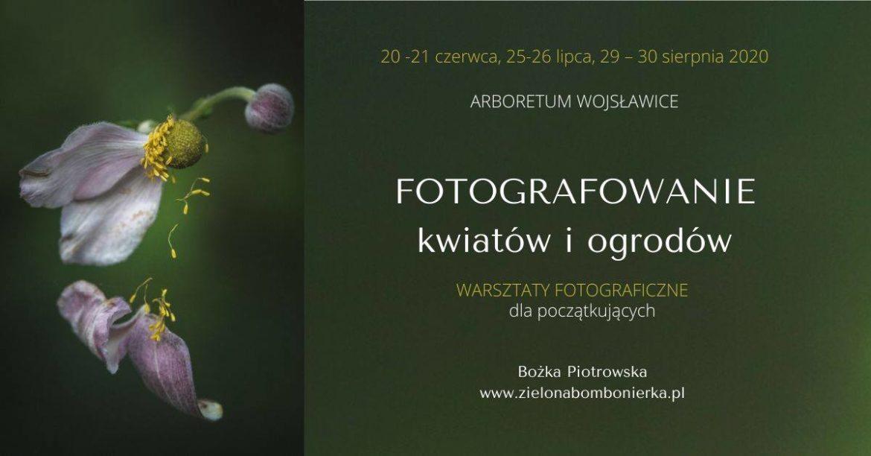 """Warsztaty fotograficzne """"Fotografowanie kwiatów iogrodów"""" ARBORETUM WOJSŁAWICE"""